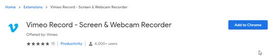 Vimeo Chrome Extension