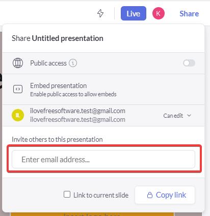 Share URL