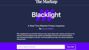Scan Websites for Data Trackers for Free: Blacklight