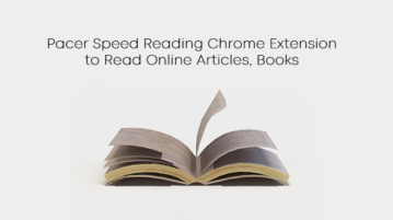 Pacer Speed Reading Chrome Extension to Read Online Articles, Books