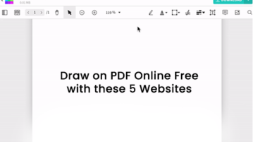 Draw on PDF Online Free with these 5 Websites