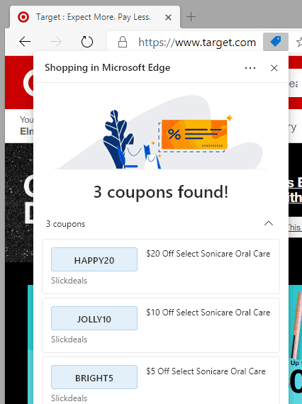 Edge Coupons in action