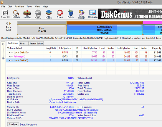 Free Data Recovery Software with HDD to SDD Migration DiskGenius