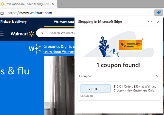 How to Find Discount Coupons for Shopping Websites in Microsoft Edge