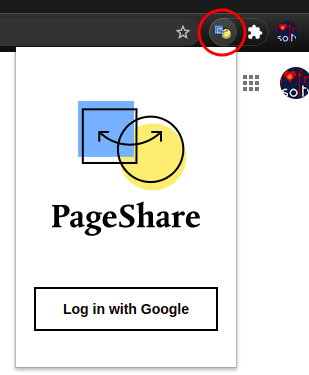 PageShare sign in with Google