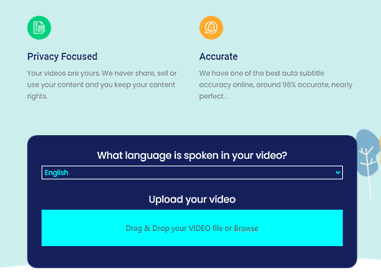 upload video to add subtitles automatically