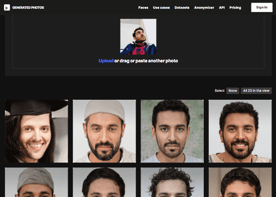 ai generated look-a-like photos