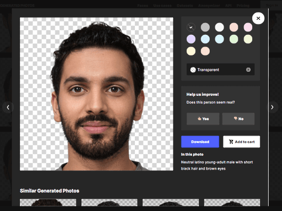 get your look-a-like photos with custom background