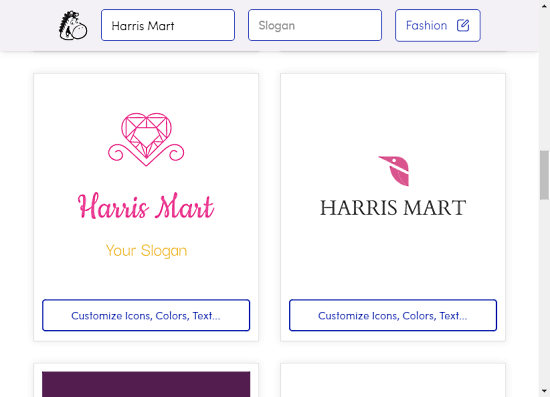 Generate Business Name with free logo