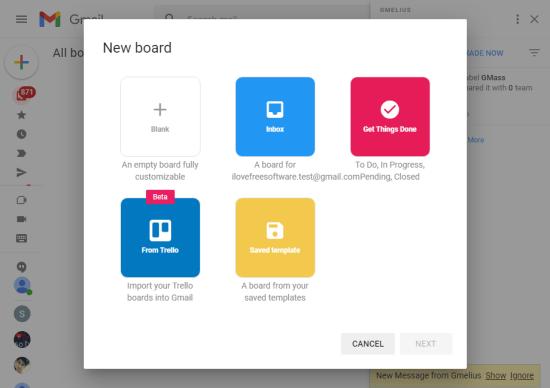 import trello board in gmail
