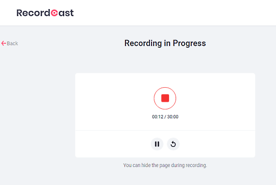 record and pause screen recording