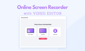 Free Online Screen Recorder with Video Editor: RecordCast