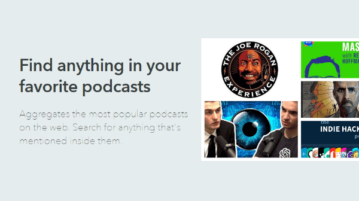 Find Anything in Podcasts with this Free Podcast Search Engine