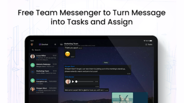 Free Team Messenger to Turn Message into Tasks and Assign