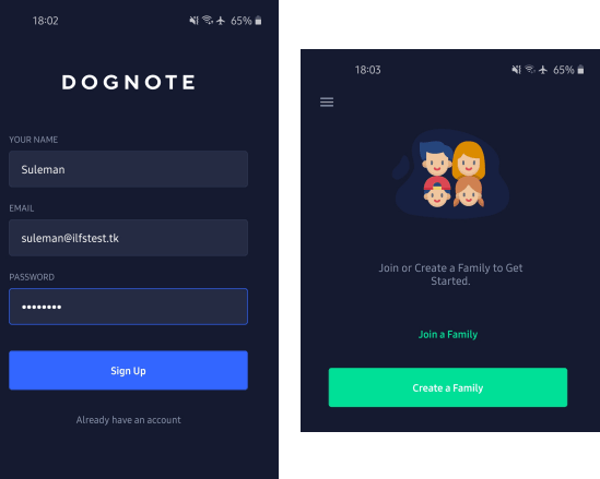 DogNote Sign up