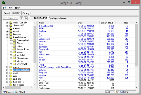 Free Software to Index Files Stored on External Media for Later Use