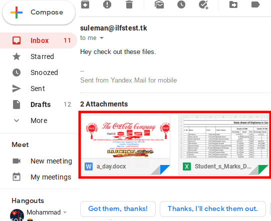 Microsoft Office Attachments in Gmail