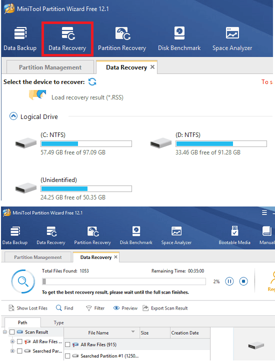 Minitool Partition Wizard Data Recovery