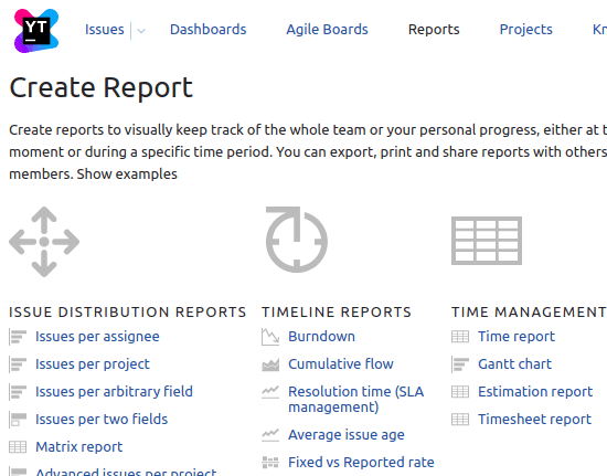 YouTrack reports