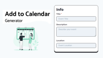 Generate 'Add to Calendar' Buttons for Your Website Free