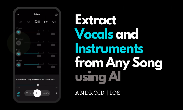 Extract Vocals and Instruments of Any Song using AI for Free