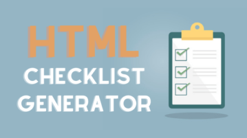 Create HTML Checklists Online to Host on Your Website