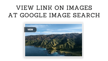 "Add Direct ""View"" Link on Images at Google Image Search"