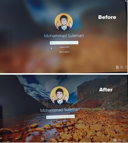 Disable Blur Effect on Windows 10 Lock Screen
