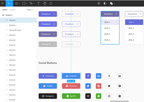 Free System UI Design Kit for Figma with Forms, Admin Dashboard Loop