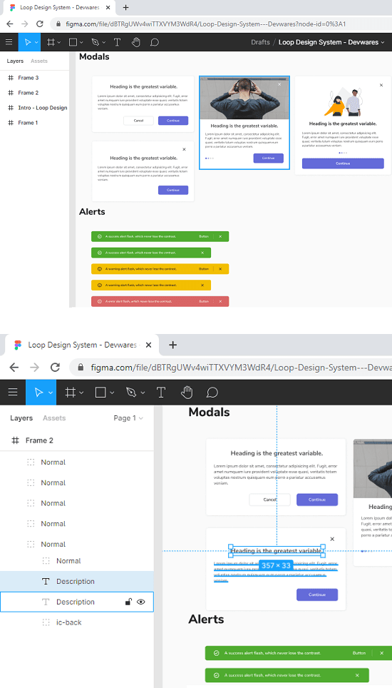 Loop System UI Kit in action