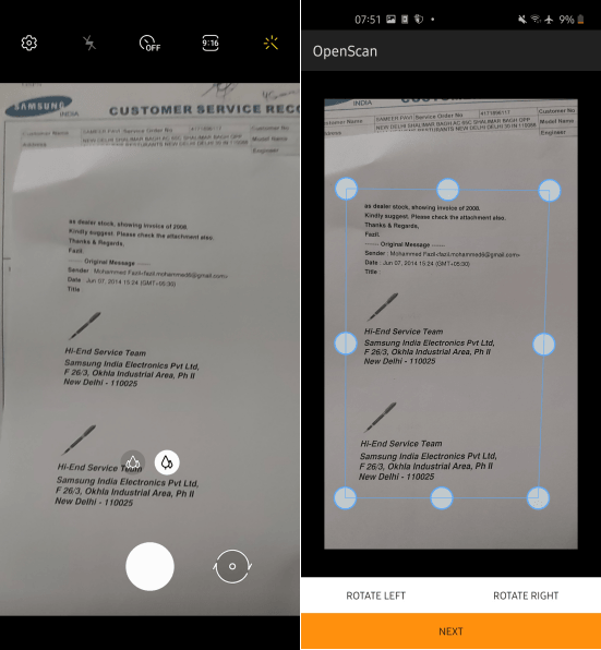 OpenScan scanning