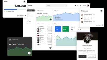 System UI Design Kit for Figma with Forms, Admin Dashboard Loop