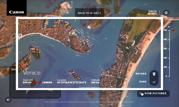 Take Photos of Earth from Space with Canon Satellite Free