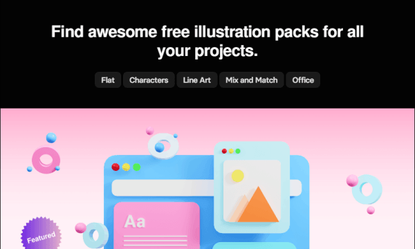 Find and Download Free Illustration Packs with this Website