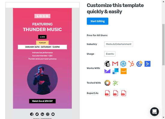 editable html email templates