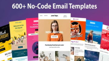 Get Customizable No-code Responsive Email Templates for Free