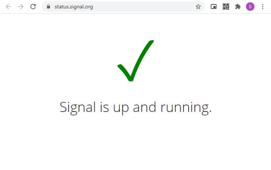 check signal status via official website