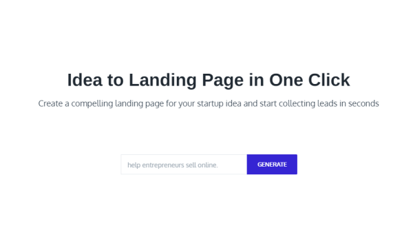 Create Landing Pages for Startup Ideas in Seconds using GPT-3