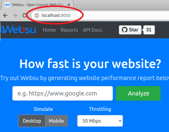 websuu web Ui on localhost