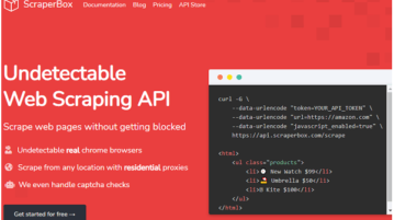 Free Undetectable Web Scraping API to Scrape any Website ScraperBox