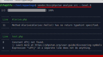 PHPStan working in extended mode
