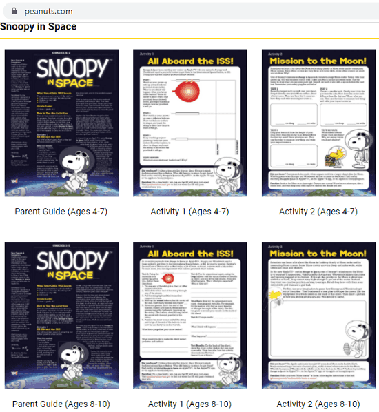 Peanuts Snoopy Lessons