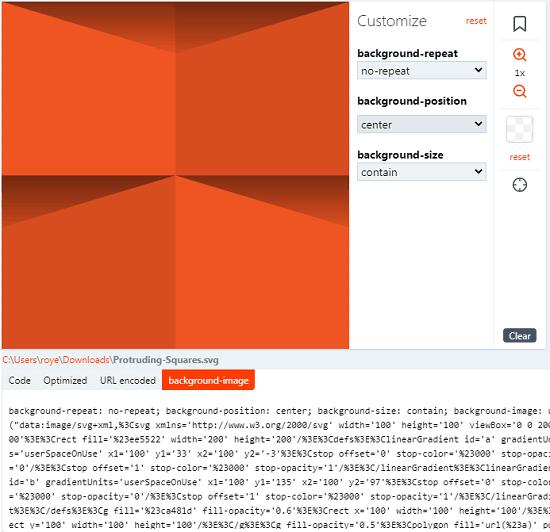 SVGX background image generate