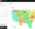 Tilegrams generated tiled map USA