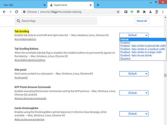 change chrome tab width