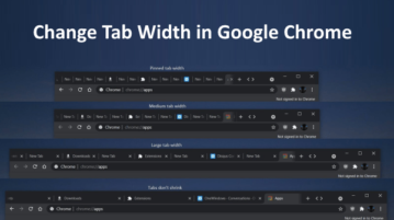 How to Change Tab Width in Google Chrome?