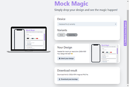 generate mockup online without signup