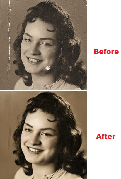 AI Based Old Photo Restoration Online Free Hotpot.ai