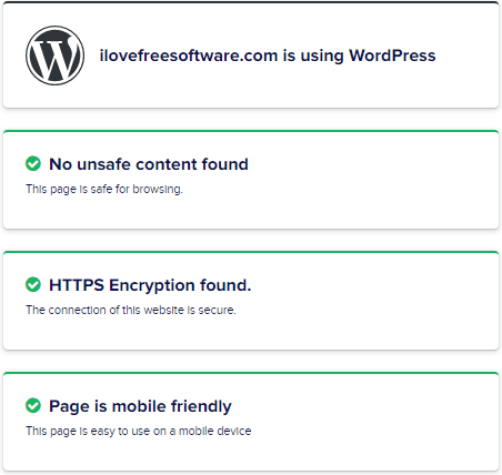 Cloudways Google Page Experience Checker CMS and HTTPS