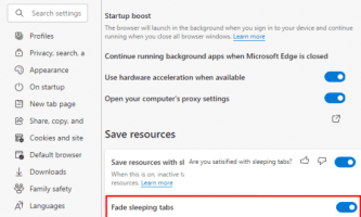 How to Disable Tab Fading for Sleeping Tabs in Microsoft Edge